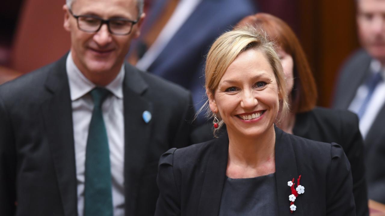 Australian Greens Senator Larissa Waters has been sworn in again. Pic: AAP