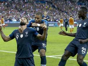 Emphatic end to France's only WC question mark