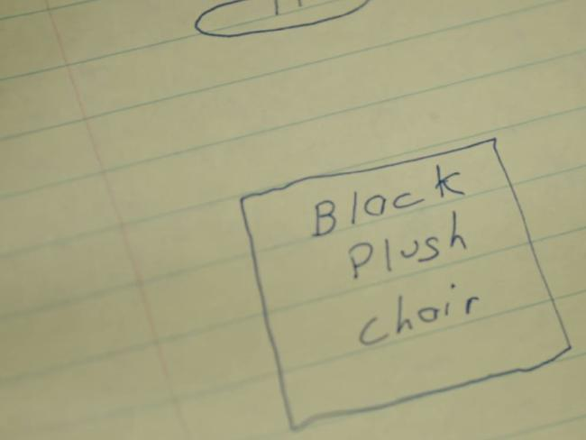 The chair he would sit on. Picture: Dark Tourist/Netflix