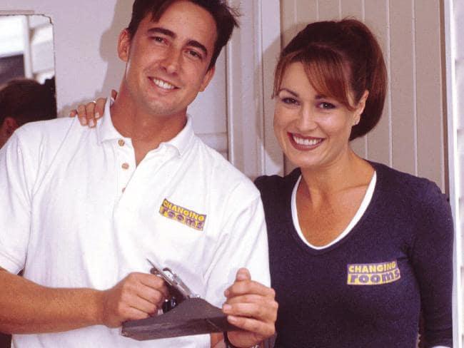 Suzie Wilks with handyman James Lunday.