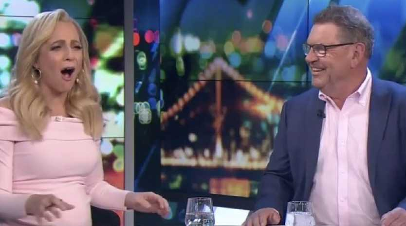 Carrie Bickmore's face said it all on Tuesday night's episode of The Project