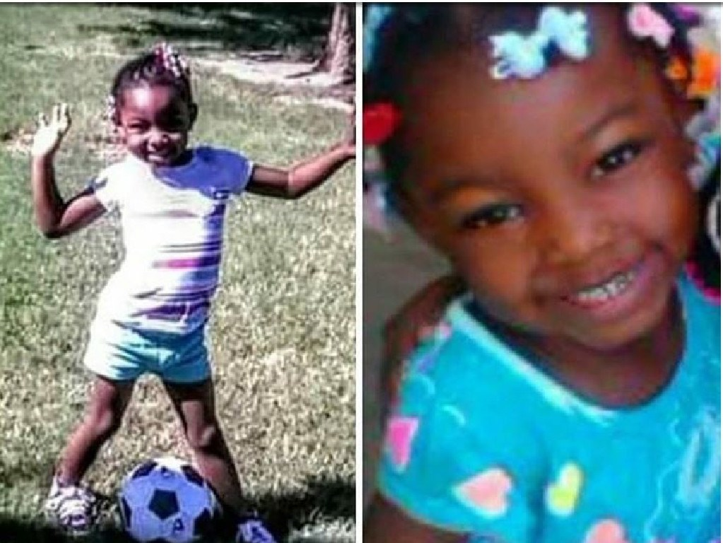 Sanaa Cunningham, seven, suffered from myriad psychological disorders that led her to harm herself and others. Picture: Supplied