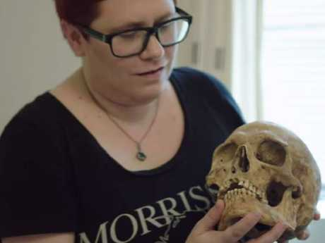 You mean most people don't take skulls in their carry-ons? Picture: Dark Tourist/Netflix