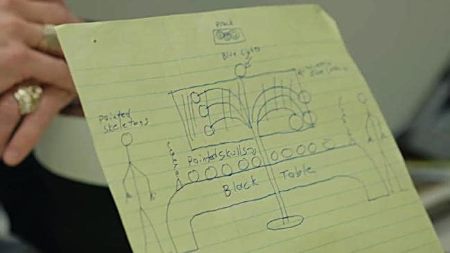 This sketch details unimaginable horror. Picture: Dark Tourist/Netflix
