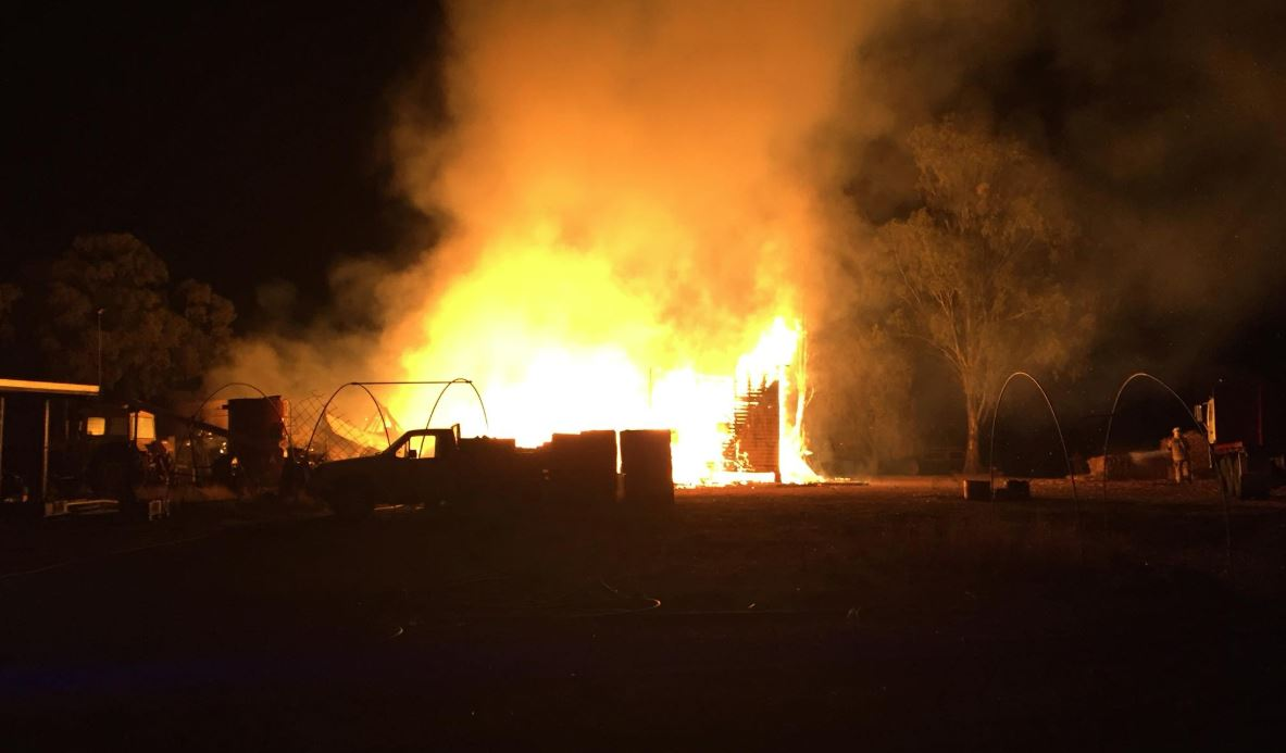 Cambooya Rural Fire Brigade crews were among the multiple emergency services responders to a house fire which razed a home on Pittsworth Felton Rd at Pittsworth Sunday night.