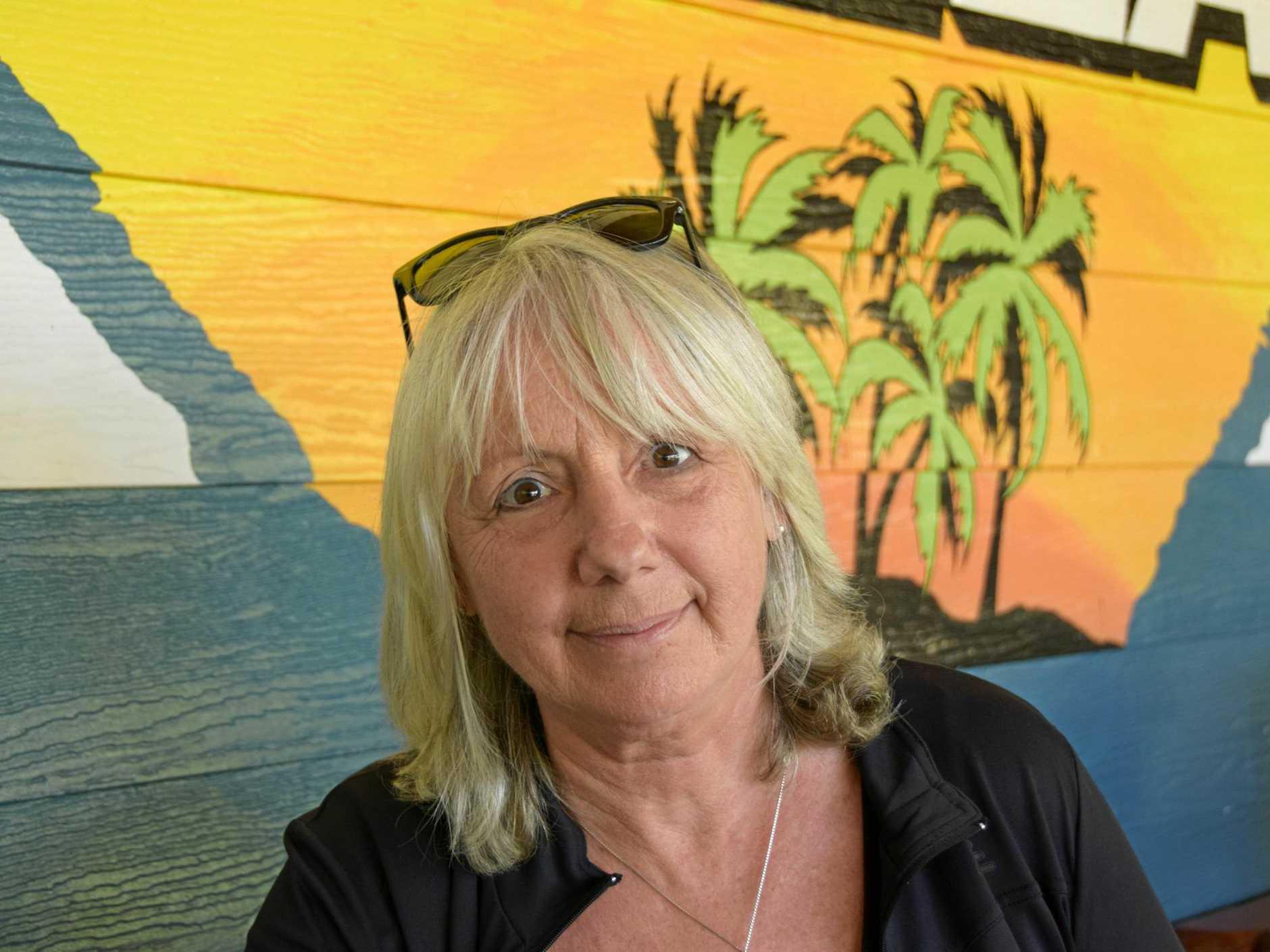 Island Pizza owner Karen Christie.