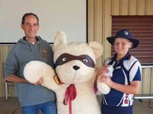 Grade six student takes home five foot bear