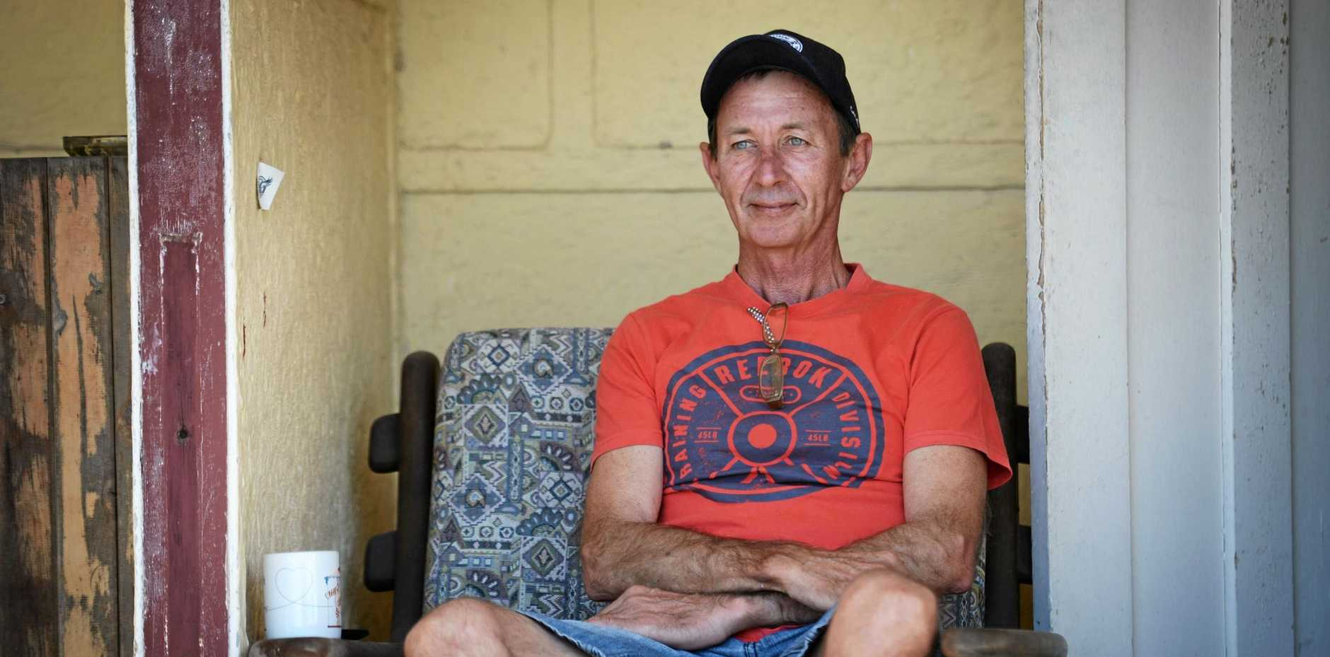 CENTRELINK CHANGE: Gordon Aitkenhead is struggling to find work and Centrelink has changed to make him apply for 20 jobs instead of volunteering at the CQ military museum to meet his obligations to collect a Newstart Allowance.
