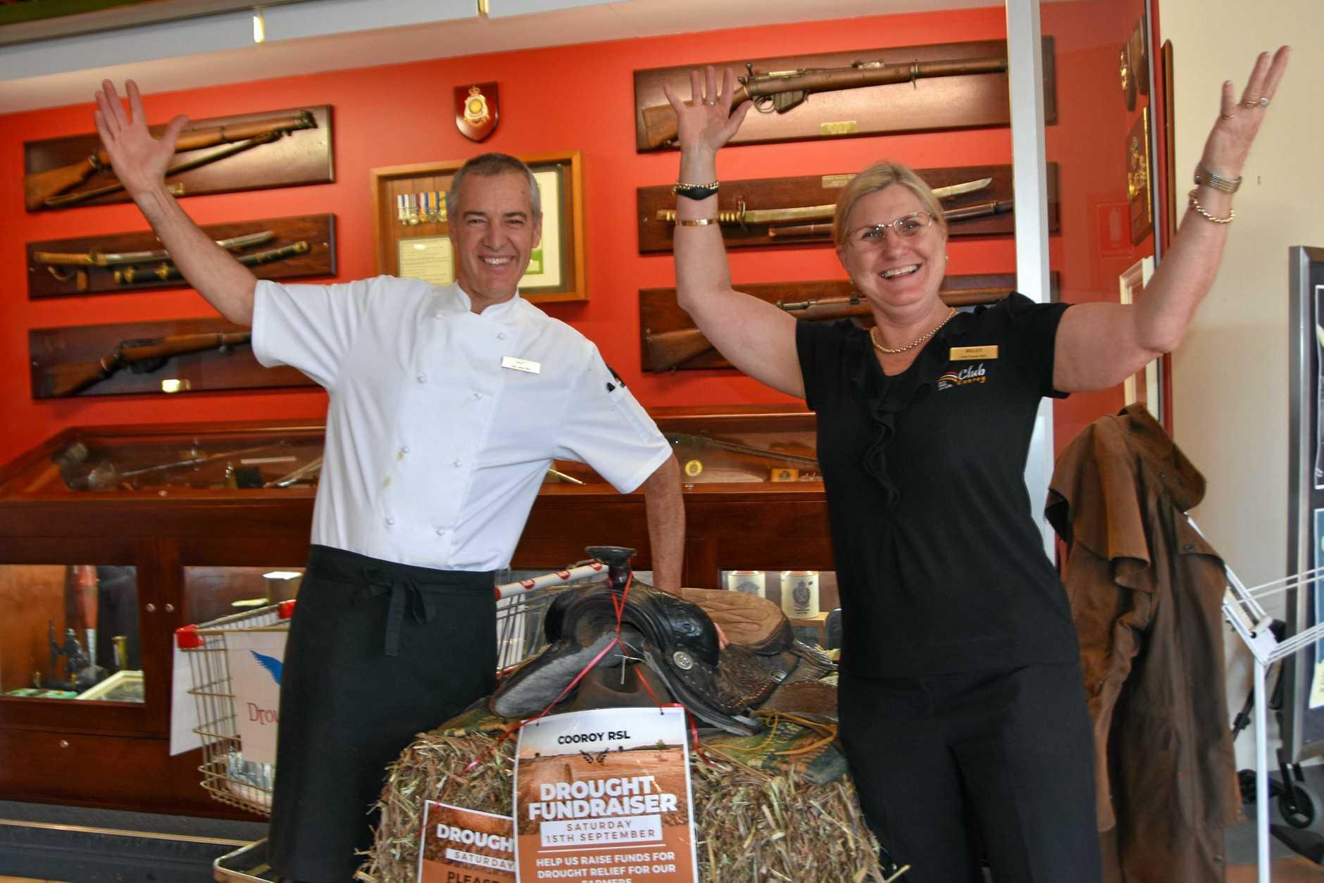 DINNER READY: Cooroy RSL head chef Brett Duke and operations manager Helen Hollingworth.