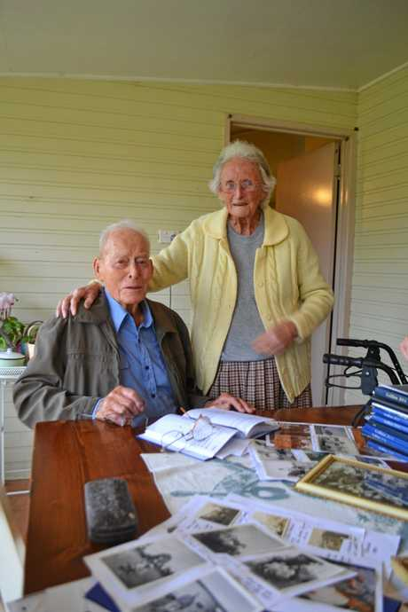 Athol and Myrtle Greaves at their home in 2015 when Athol turned 100.