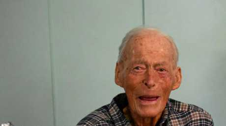 Athol Greaves pictured on his 103rd birthday.