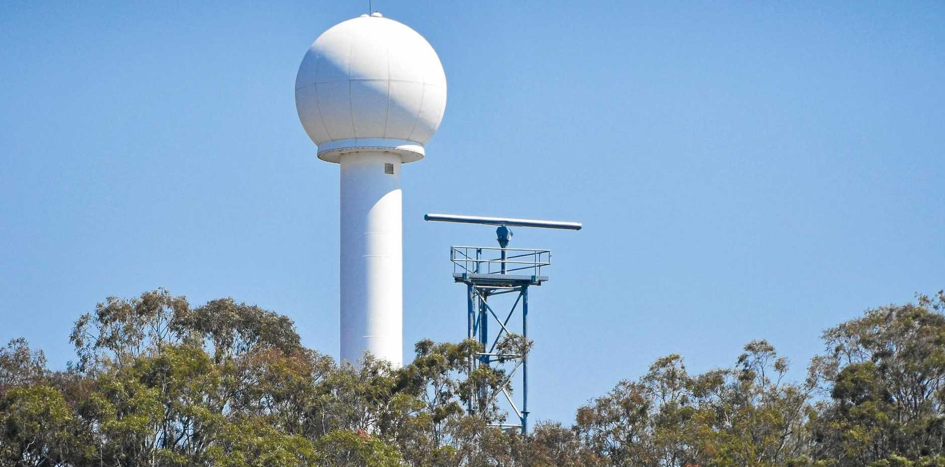 NEW TECH: The new Vessel Traffic Services radar tower on Radar Hill at South Gladstone will replace an existing tower on Facing Hill Island.