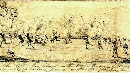 HISTORY: An artist's impression of what the Battle of One Tree Hill looked like.