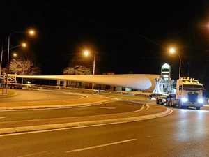 PHOTOS: First blade arrives for Coopers Gap wind farm
