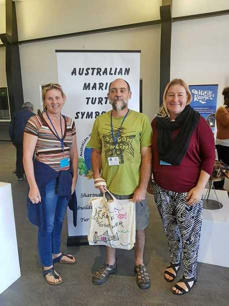 TURTLE HELPERS: Jodi Jones, Karl French and Megan Ellis attended the recent Turtle Symposium in Bundaberg.