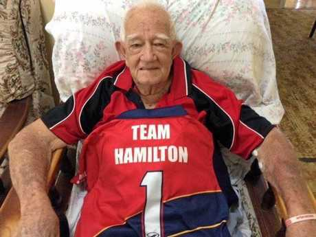 Col Hamilton sporting his own Team Hamilton jersey.