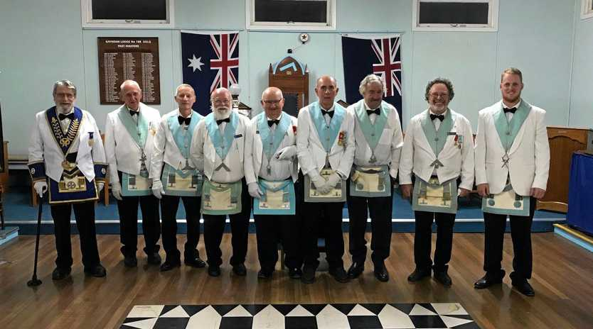 PROUD MOMENT: Officers of Gayndah Freemasons Lodge are installed on Friday, September 7.