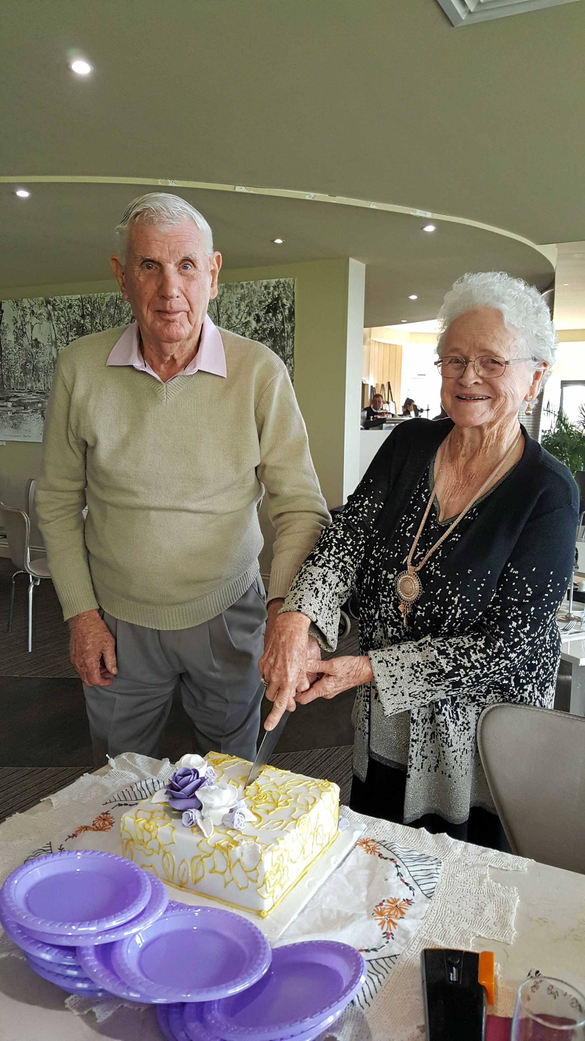 Bill and Dawn Lord celebrating their 60th wedding anniversary earlier this year.