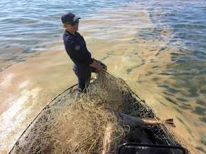 UPDATE: Illegal 45m fishing net found in broad daylight