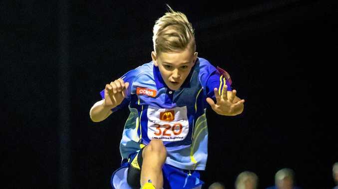 Jacob Reed under-11 boys long jump.