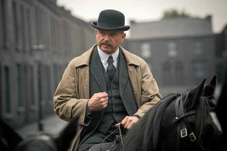Actor Sam Neill in a scene from the TV series Peaky Blinders. Supplied by BBC TV Australia.