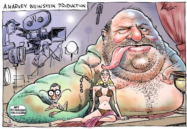 Knight cartoon on Harvey Weinstein.