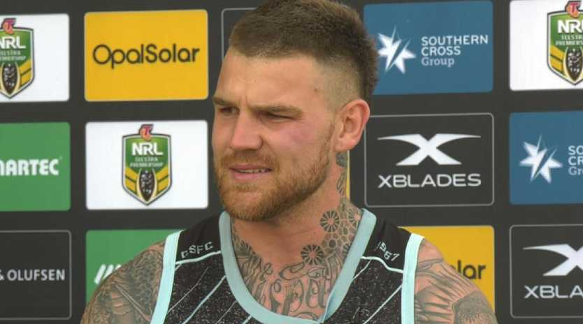 Josh Dugan has become emotional during an interview.