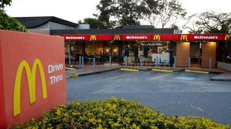 Mr Hubber claims he fell over 10m at the McDonalds Windsor site. (AAP Image Steve Pohlner)