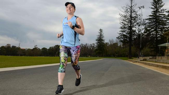Retired Olympic cycling champion Anna Meares will run her first half-marathon in this weekend's Sunday Mail City-Bay. Picture: Brenton Edwards/AAP