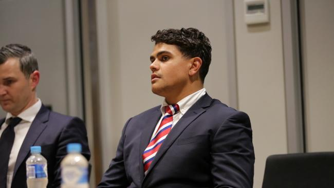 Pictured is Latrell Mitchell at the NRL HQ in Moore Park. Picture: Christian Gilles
