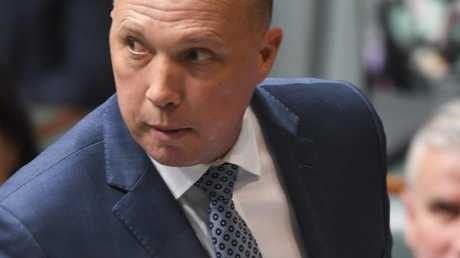 Dutton's death stare. Pic: AAP