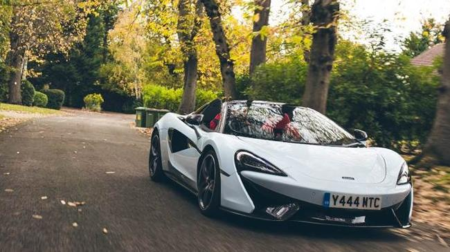 The McLaren being used at the media test drive event.