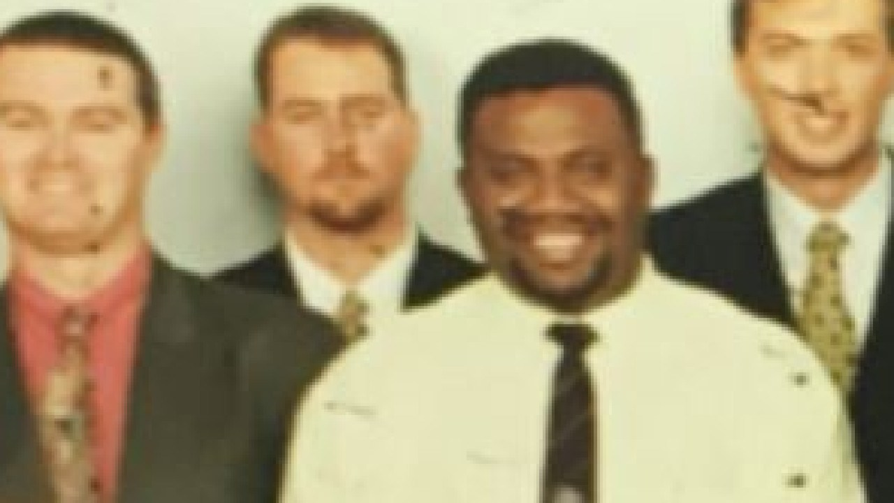 Mr Dutton (top right) and Russell Kieg (top left) in 1997.