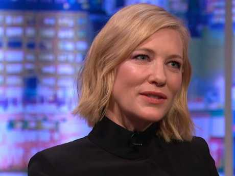 Cate Blanchett on The Jonathan Ross Show, sharing her Prince Philip story. Picture: YouTube/ITV