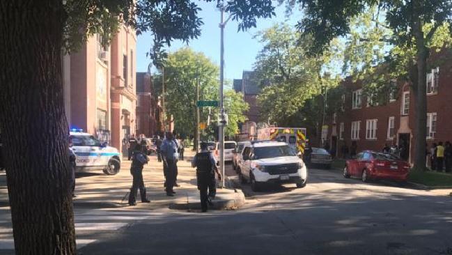 The scene of the shooting. Picture: Twitter/Dakarai Turner.