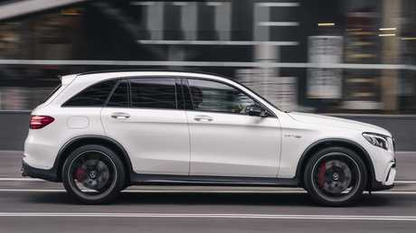 Firm ride: The Mercedes GLC 63 AMG sporty nature means it isn't a comfortable around town as regular GLCs. Picture: Supplied.
