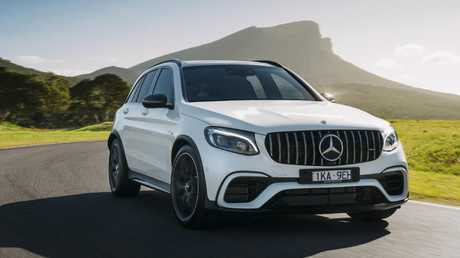Muscle car madness: The Mercedes GLC 63 AMG is powered by a twin-turbocharged V8. Picture: Supplied.