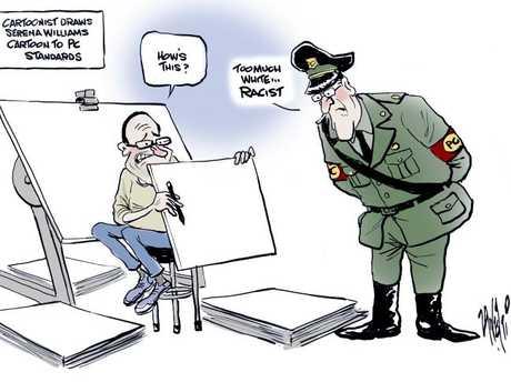 Paul Zanetti's cartoon in support of Mark Knight
