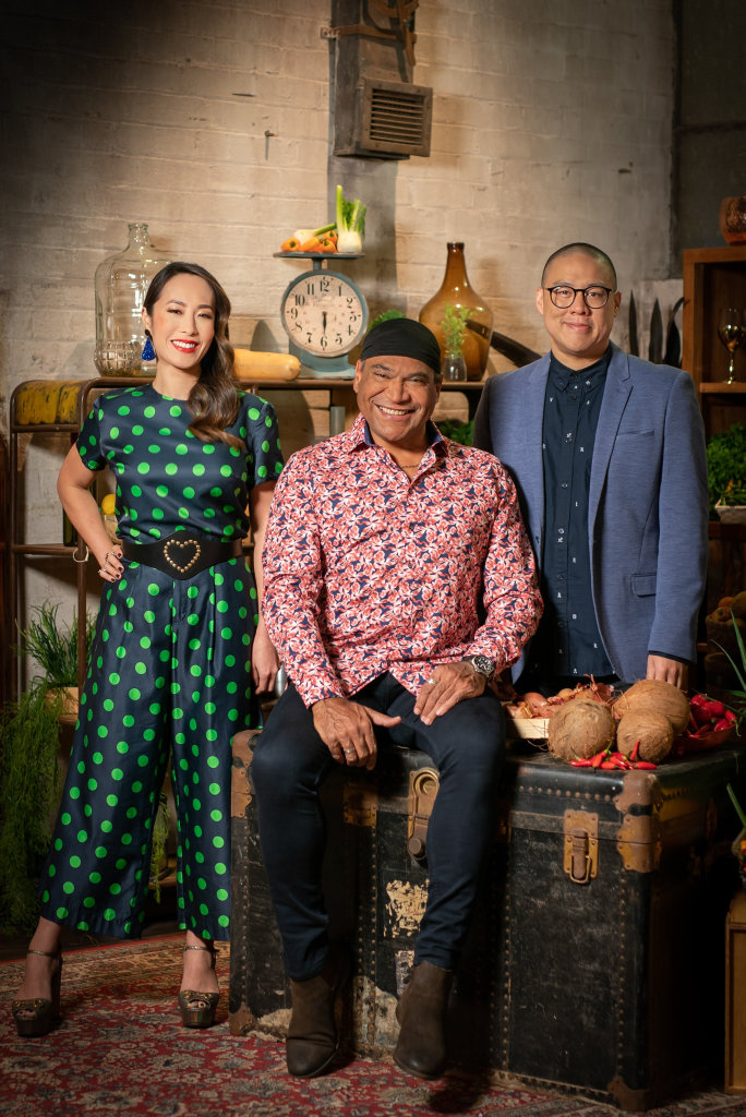 Melissa Leong, Mark Olive and Dan Hong are the judges and hosts of the TV series The Chefs' Line.