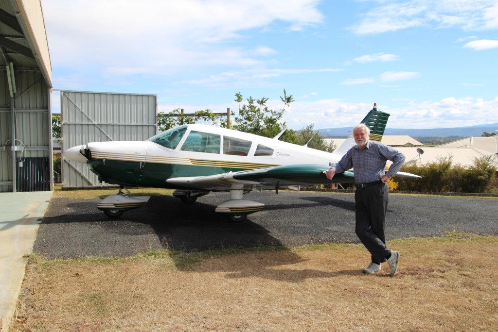 Angel Flight volunteer pilot Andre Uranankar with his plane 'Pixie'
