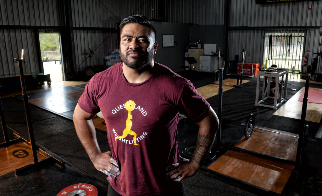 Image for sale: Jax Solofa is the Australian Weightlifting Federation senior champion.