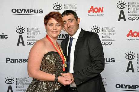 Colleen and her husband, Scott, at the AIPP awards where she was awarded three silvers and a Master of Photography.