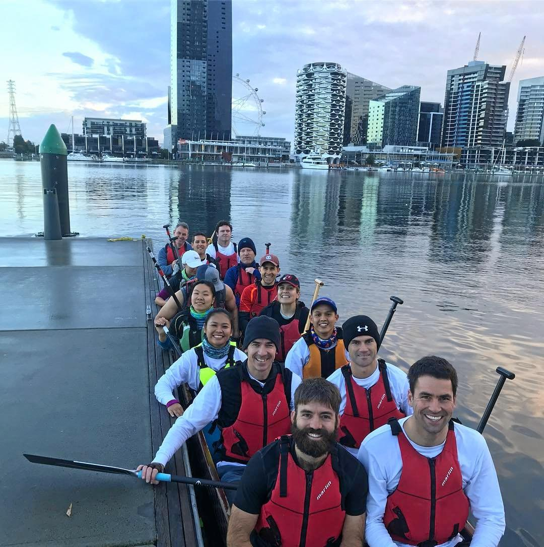 The Boating For Brains crew endured a 60km trial run before being pelted with rain and hail.