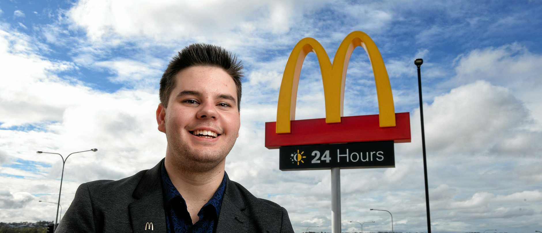 LEAPS AND BOUNDS: Baylee Templeton will be the restaurant manager at the new Camira McDonald's.