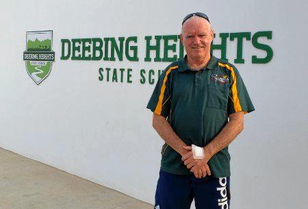 Ipswich Table Tennis president Gerard Marsh outside Deebing Heights State School where matches will be trialled.