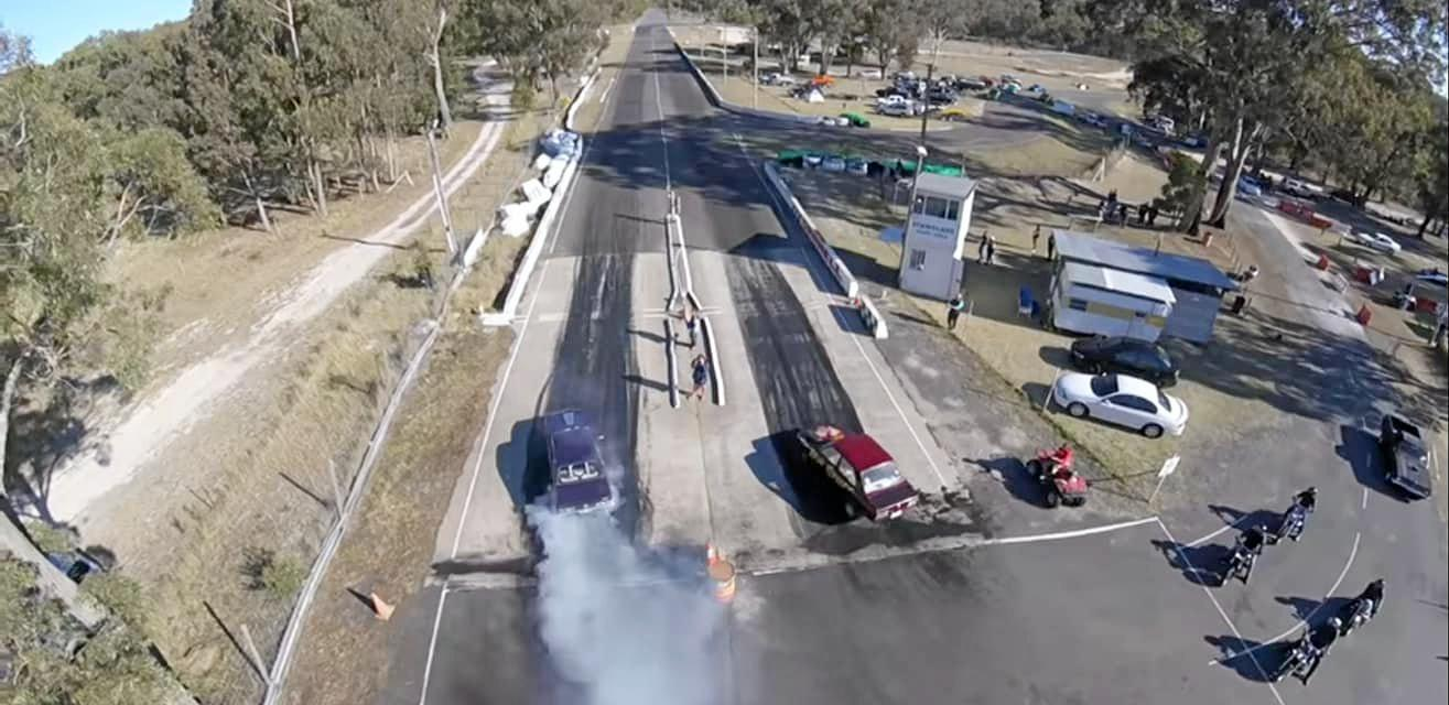 BURNING RUBBER: Racers enjoyed the final drag meet for the season on Sunday.