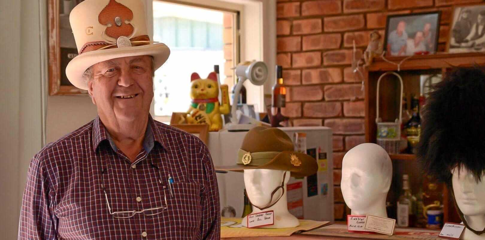 COLLECTOR: Hat enthusiast Neil Ward.