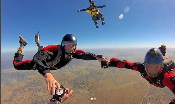 FLY HIGH: Jett Girvin has just become the youngest person in Australia to receive his skydiving license.