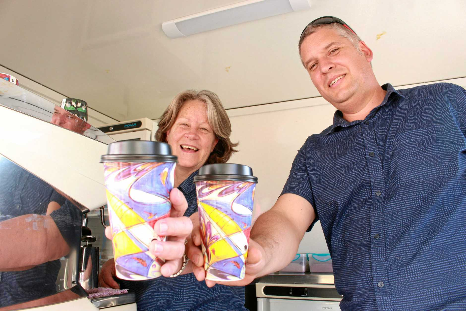 JUMPING BEAN: Pam and Eric Schmidt are proud to be launching their new mobile coffee trailer in Warwick.