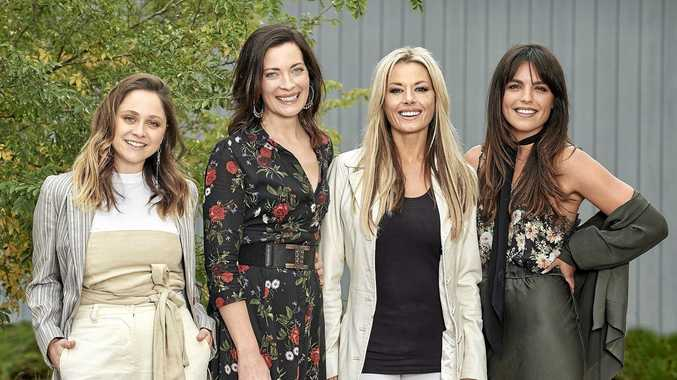 Cece Peters, Annie Maynard, Madeleine West and Olympia Valance star in the TV series Playing For Keeps.